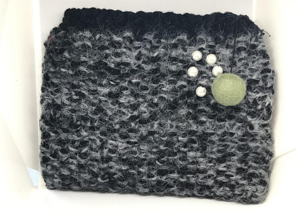 håndlavet- håndstrikket - makeup-pung